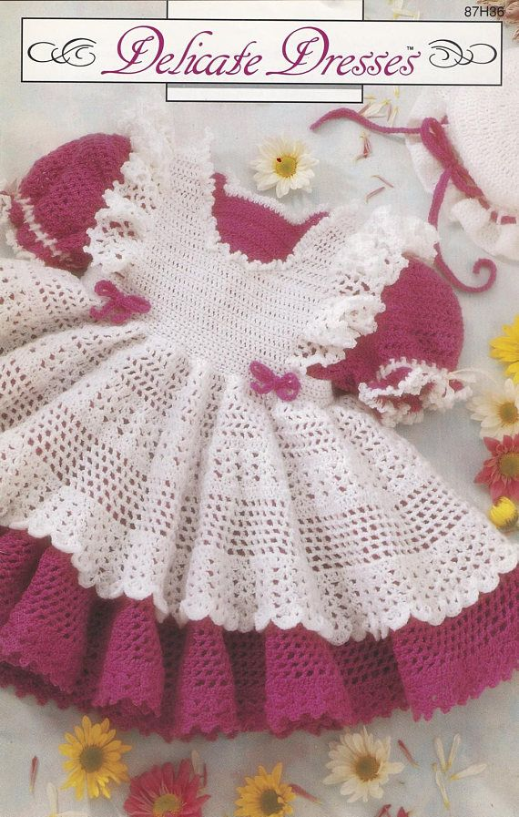 Delicate Dresses, Annie\'s Attic Crochet Baby Clothes Pattern Booklet ...