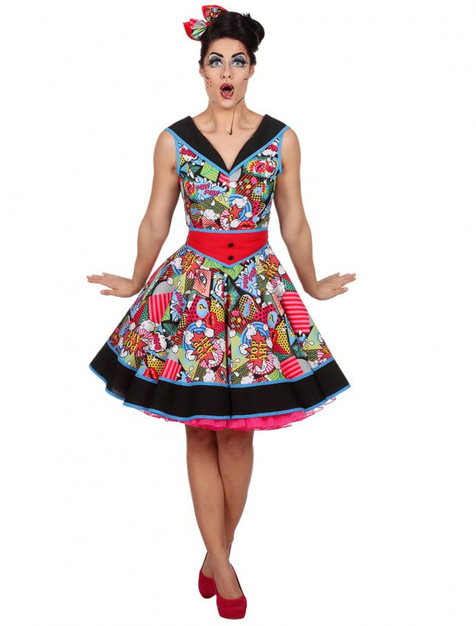 Kleid Comic Damen bunt   Kleider, Damen, Kostüme damen