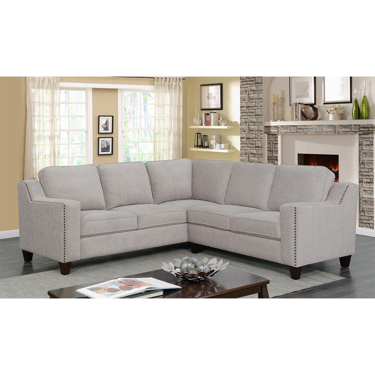 Mstar International Maddox Fabric Sectional Sofa Costco Uk