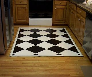 How To Make A Custom Painted Floor Cloth From A Sheet Of Vinyl Flooring Painted Floor Cloths Floor Cloth Vinyl Flooring