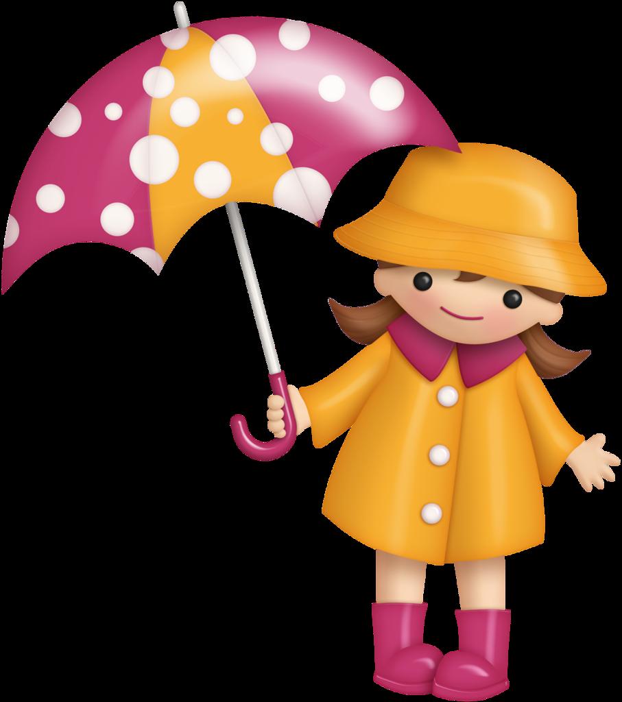 Для друга, девочка под зонтиком открытка