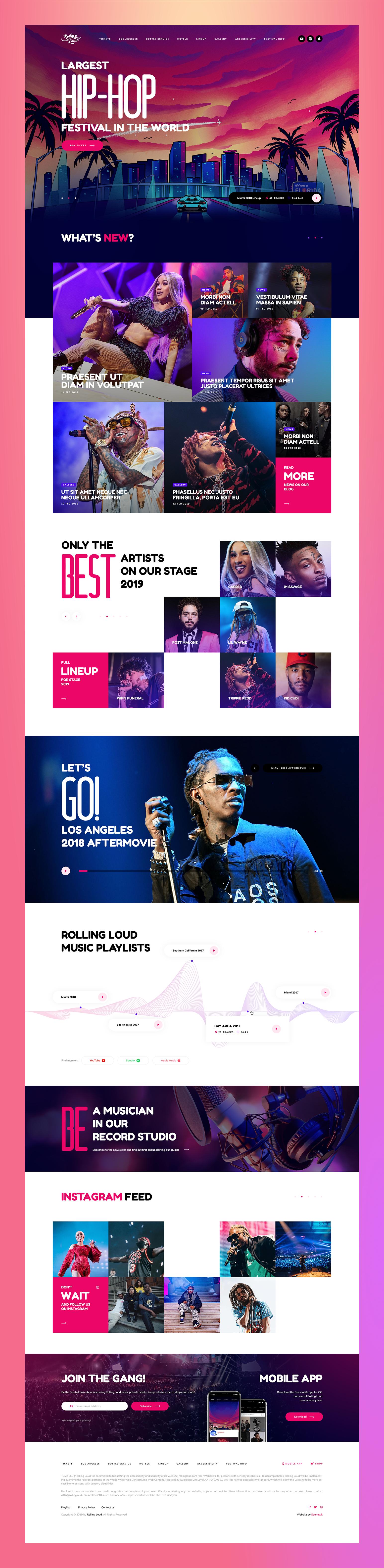 Rolling Loud Best Landing Page Design Clean Web Design Rolling Loud