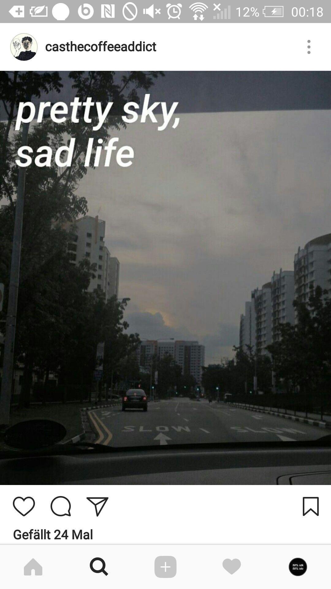 Trauriges Leben