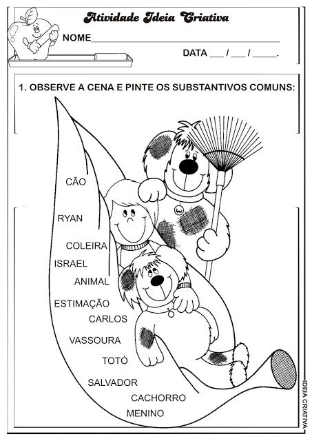 Atividade Substantivos Proprios E Comuns Atividades Substantivos