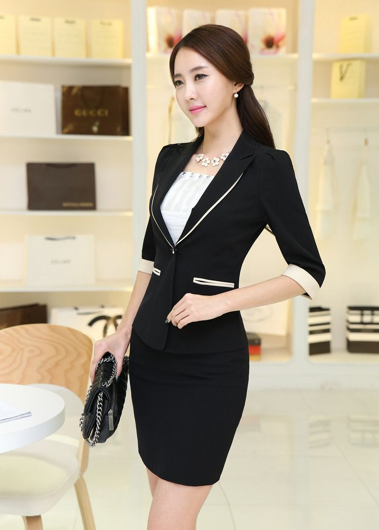 6a2959b0b05 ... jacket wing directly from China skirt wholesaler Suppliers  Fashion  Women Career Slim Suits (Coat+Skirt) Half Sleeve For Spring Summer  Elegant
