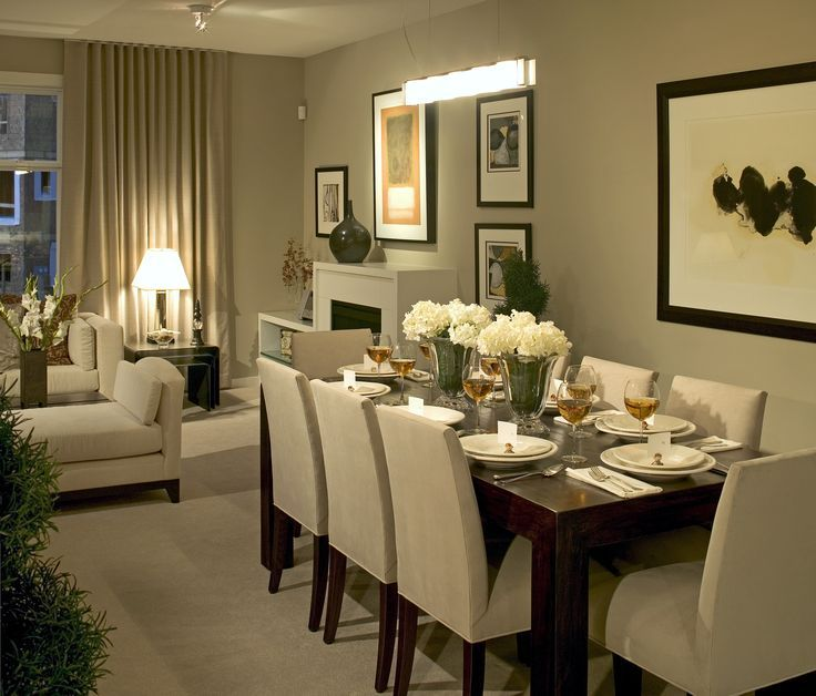 Living Room And Dining Room Together: This Cozy Dining Room Seats Eight Guests, Perfect For