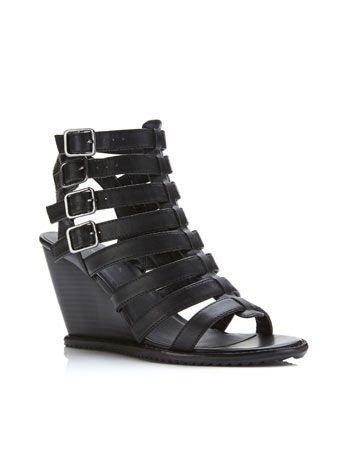 buy online f9c49 68fa7 Mona Buckle Wedge   Shoes & Boots   Pinterest
