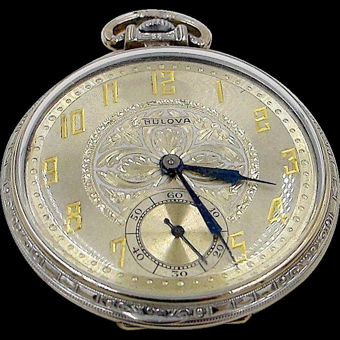 Art Deco Bulova Pocket Watch on RubyLane.com | Kronos | Pinterest ...