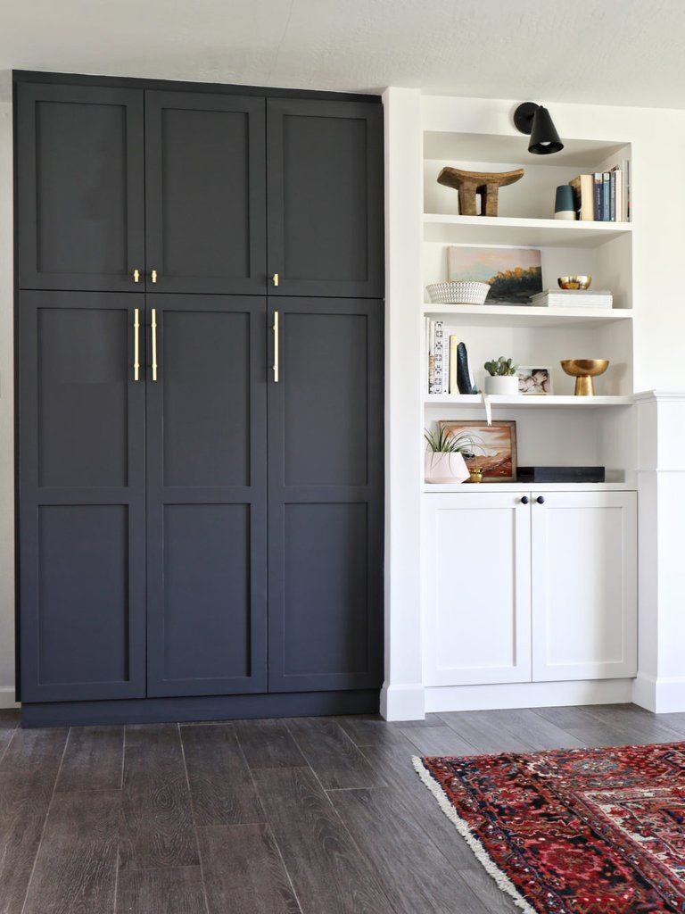 Built In Pantry Shaker Doors Open Concept And Pantry
