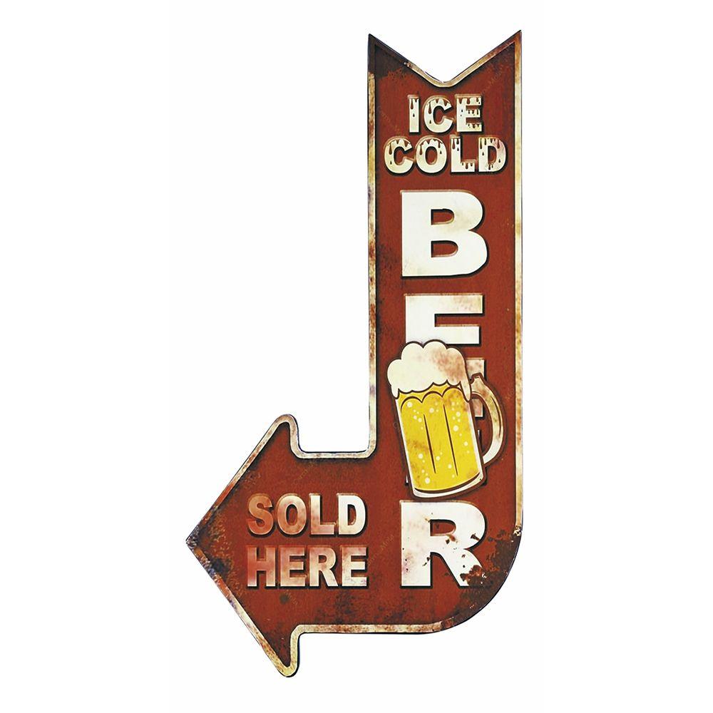 Placa Decorativa 15x30cm Ice Cold Beer LPDR-010 - Litocart ...