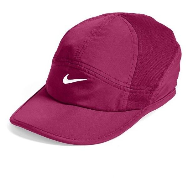 best service 62c57 ce6a6 Women s Nike  Featherlight 2.0  Dri-FIT Cap ( 23) ❤ liked on Polyvore  featuring accessories, hats, nike, nike hat, dri fit cap, nike cap and dri  fit hat