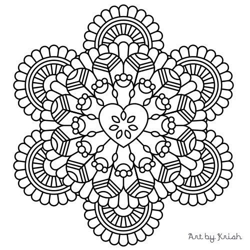 Printable intricate mandala coloring pages instant for Mandala coloring pages pdf