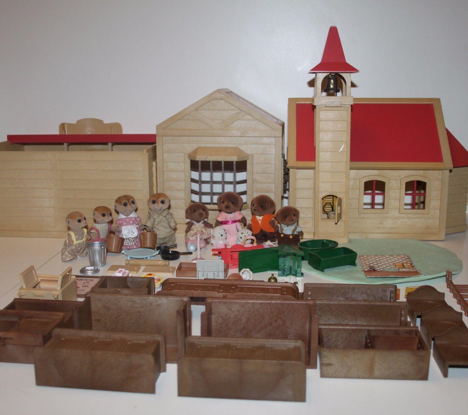 Details About Sylvanian Families Vintage Bakeryschoolpost Office