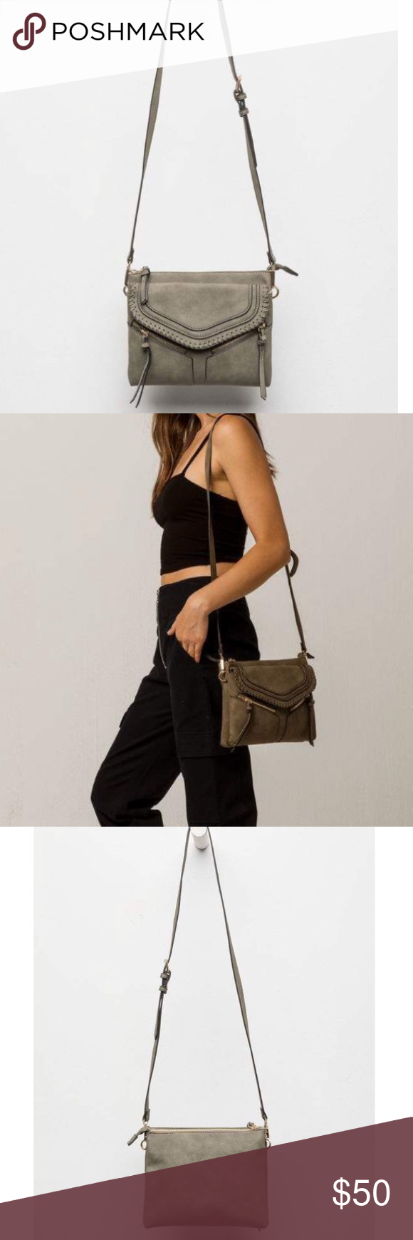 2db3d8bc9eb6 Free People Leanna Whipstitch Crossbody Bag Free People line Violet Ray  Leanna faux leather crossbody bag