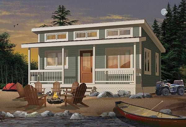 Ideal Fishing Camp Cabin Plan Drummond House Plans Small House Plans Cottage House Plans