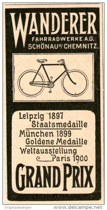Original Werbung Inserat Anzeige 1902 Wanderer Fahrrader Ca