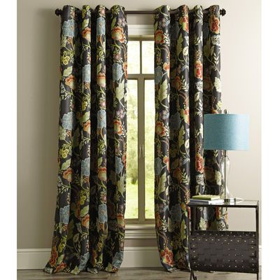 Midnight Floral Curtain Floral Curtains Curtains Living Room Kitchen Curtains And Valances