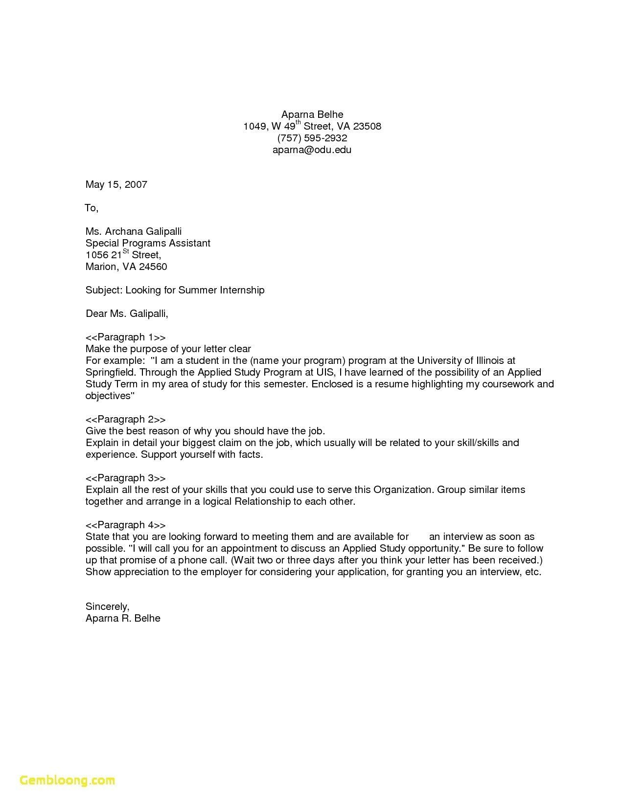 General Cover Letter Sample
