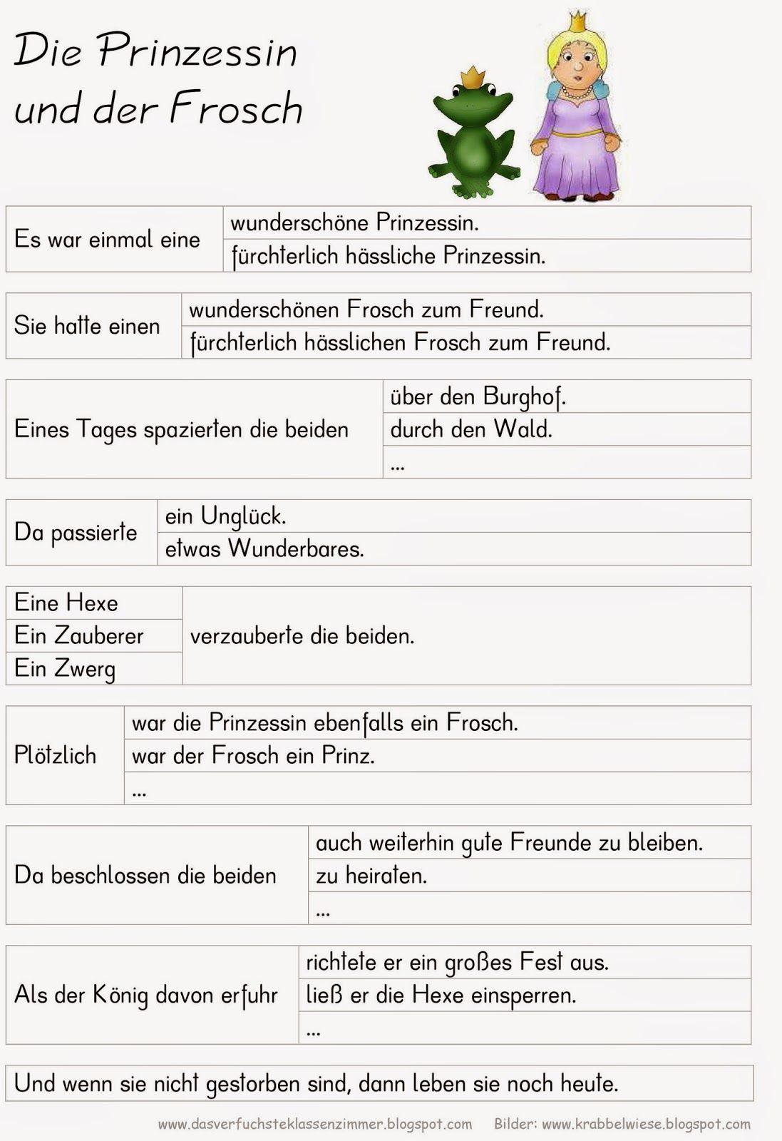 Entscheidungsgeschichte - Die Prinzessin und der Frosch | Deutsch ...