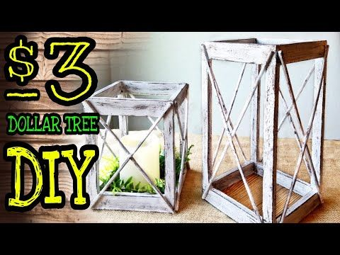 Farmhouse DIY: $3 Dollar Tree Rustic Lantern