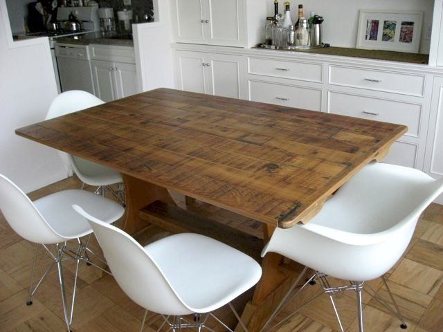 New 8 Ft Rustic Trestle Dining Table Pine Farm Table