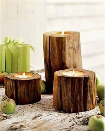 Ideas para interiores con troncos de madera decora ideas for Ideas decorativas hogar
