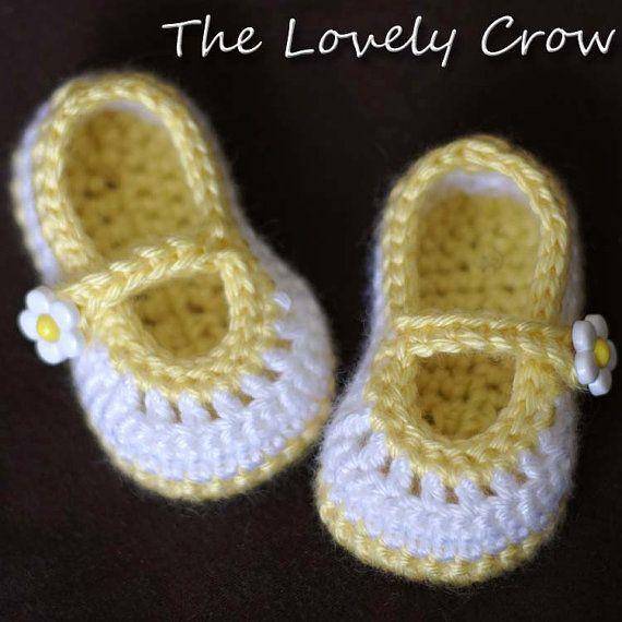 Recién nacido escarpines Crochet patrón para bebé Teaparty   zapatos ...