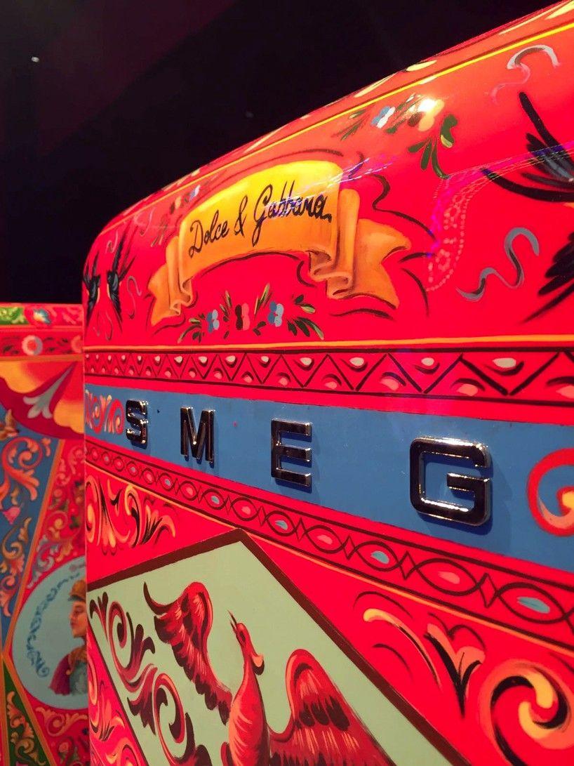 Dolce Gabbana Transforms Smeg S Fab28 Refrigerator Into A Work Of Art Smeg Milan Design Week Dolce And Gabbana