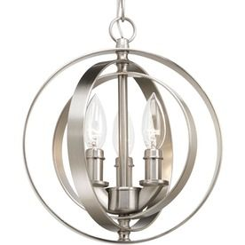 Shop Progress Lighting Equinox 10.125 In Brushed Nickel Multi Light Cage  Pendant At Lowes