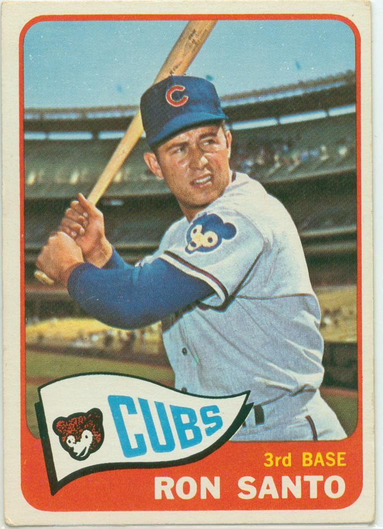 Ron Santo 'Fab Five' Card 2 1965 Topps Baseball