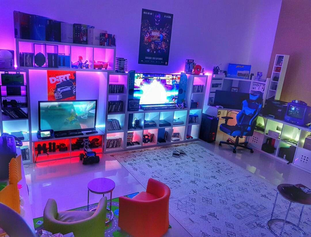 50 Video Game Room Ideas To Maximize Your Gaming Experience Video Game Rooms Video Game Room Design Video Game Bedroom