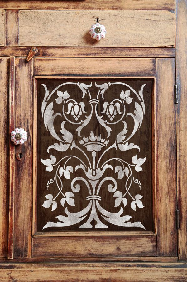 Firenze Classic Panel Stencil  Rustic Elegance Stenciling And Pleasing Kitchen Stencil Designs Review