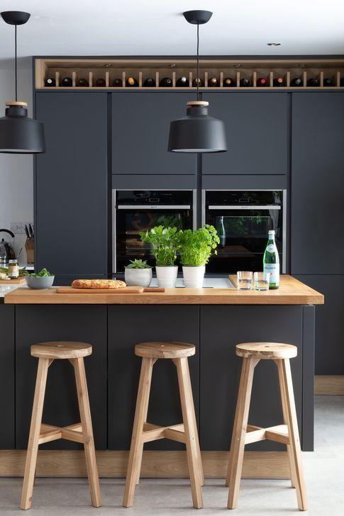 48 Stunning Dark Grey Kitchen Design Ideas #greykitchendesigns