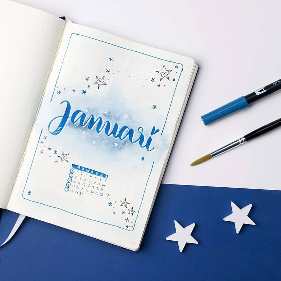 "Manon on Instagram: ""Hello January! Here's my monthly cover. I don't have an exact theme yet, but there's gonna be a lot of blue. Do you have a monthly theme at…"""