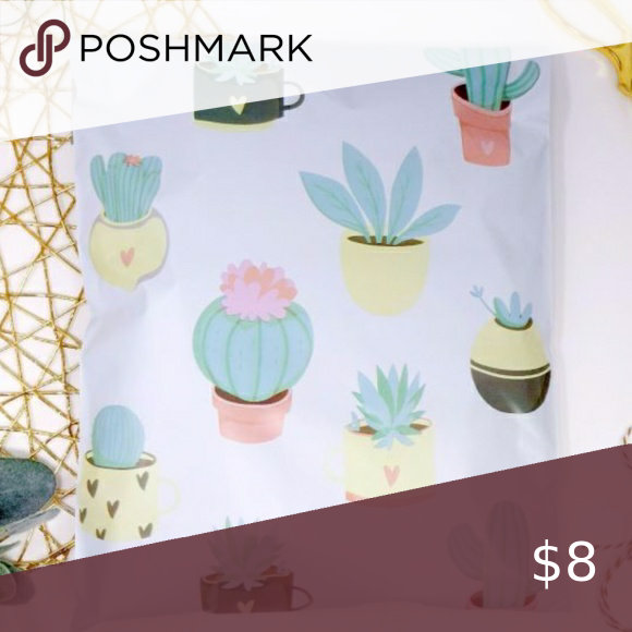 20 pieces 10x13 succulent design polymailer