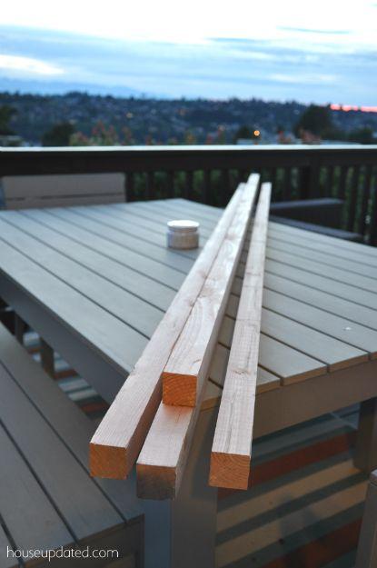 Diy posts for hanging outdoor string lights on your deck for Diy outdoor string lights