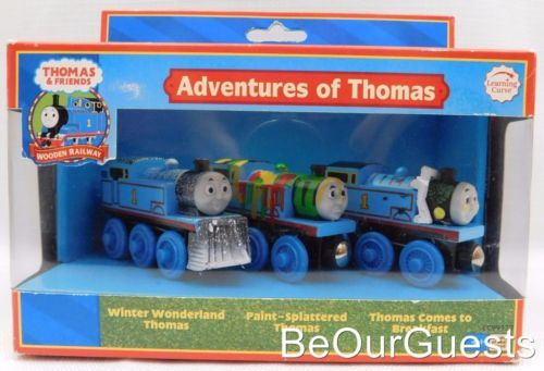 Thomas Friends Adventures Of Thomas Wooden Railway Trains Set New