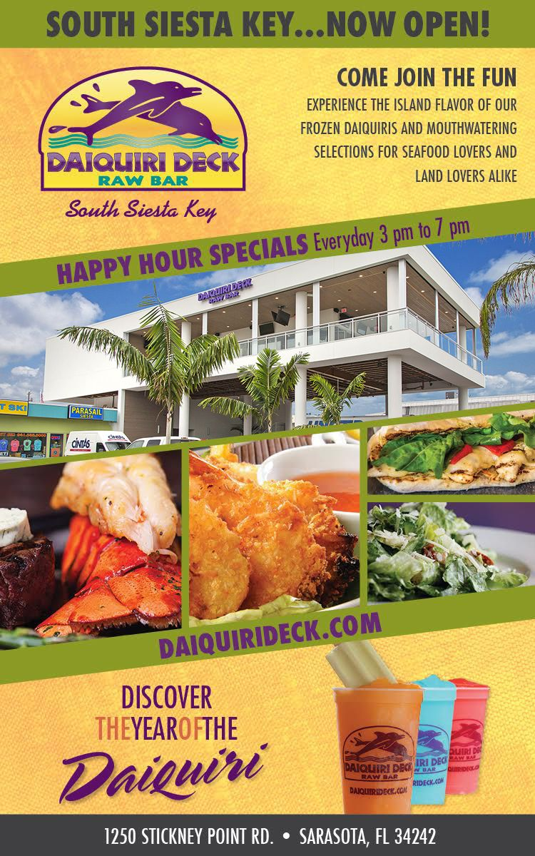 The world famous Daiquiri Deck has three locations in