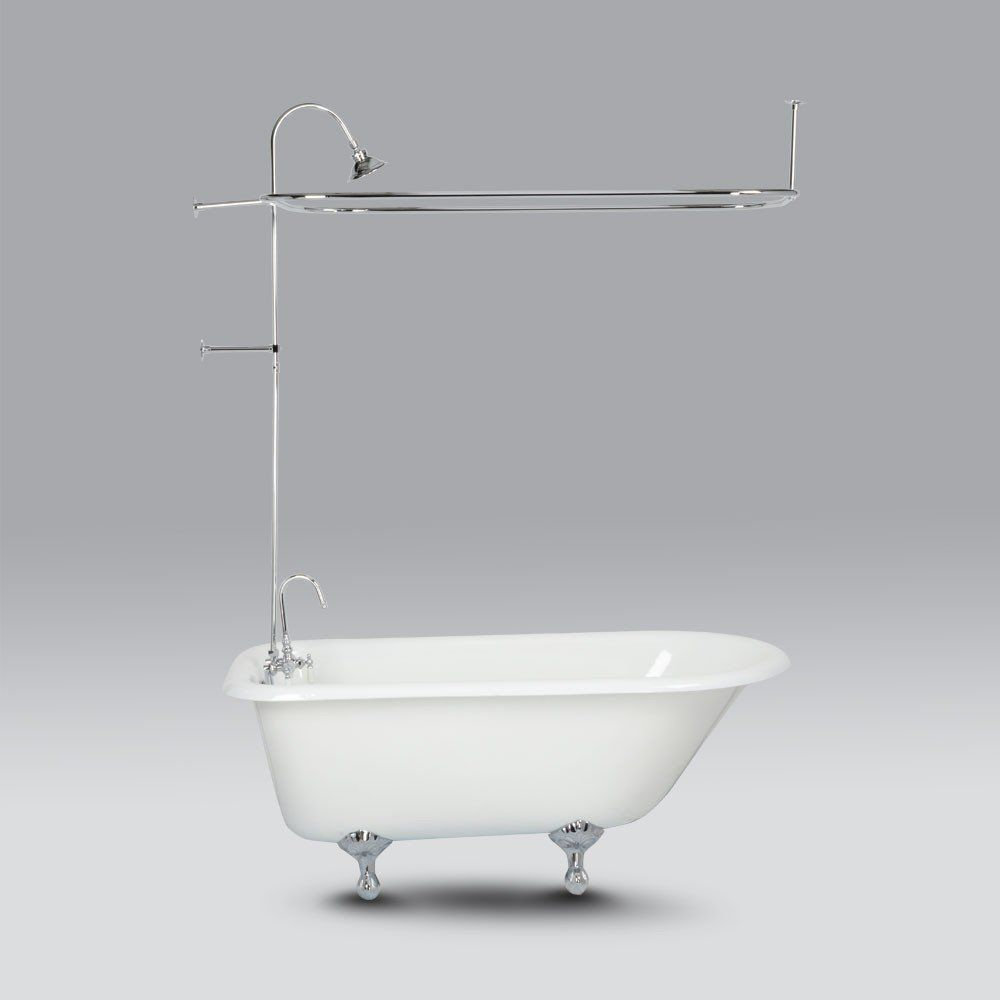 Clawfoot Tub Shower Enclosure With Shower Head In 2020 With