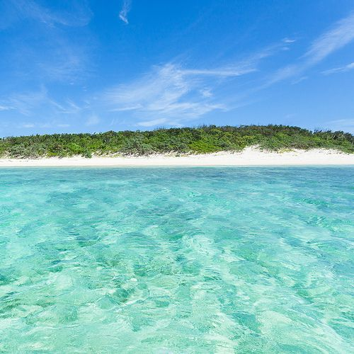 Desert Island Beach: Deserted Tropical Beach Of Yaeyama Islands, Japan