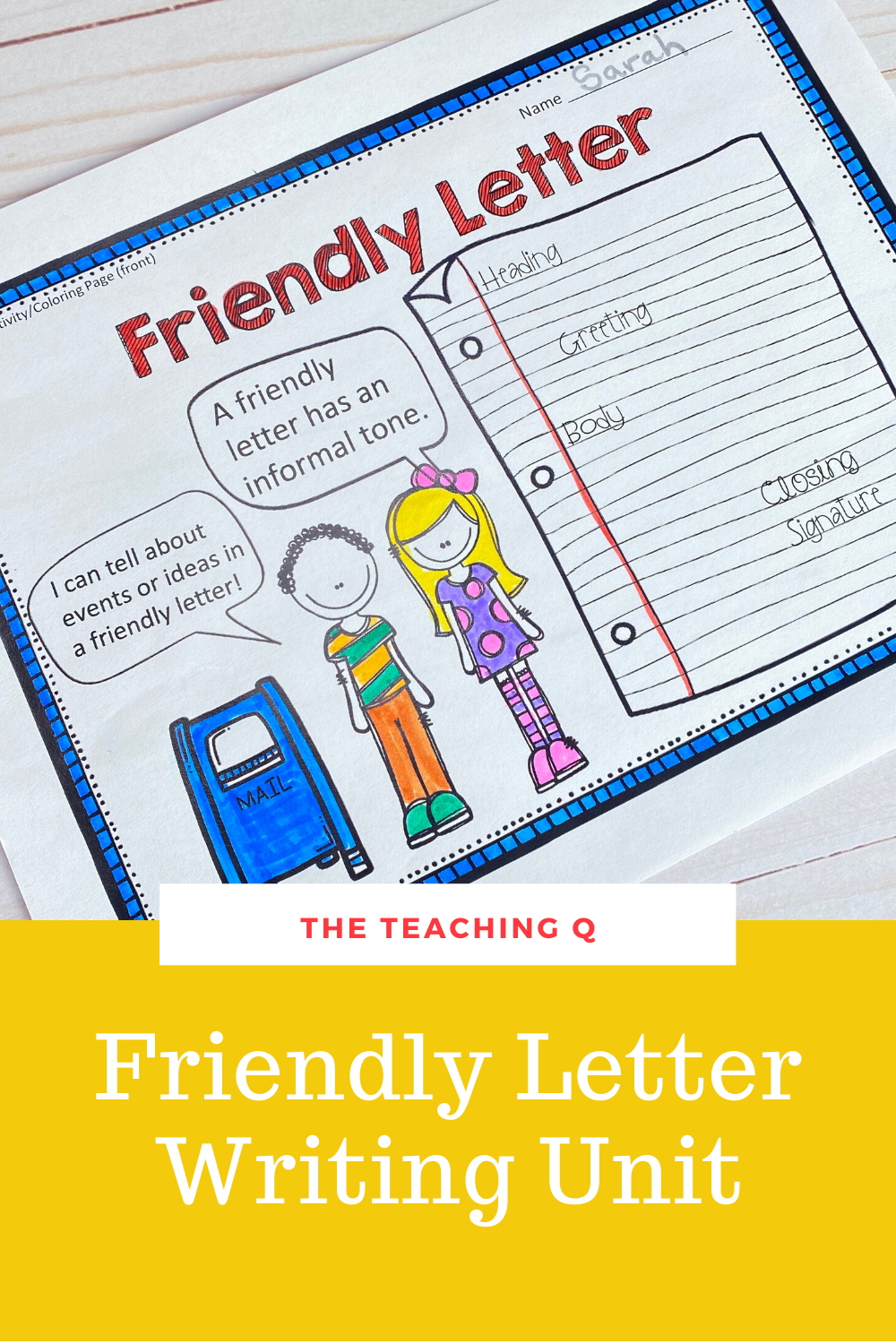 Friendly Letter Writing Unit Distance Learning With Google Slides Link Friendly Letter Writing Writing Units Friendly Letter