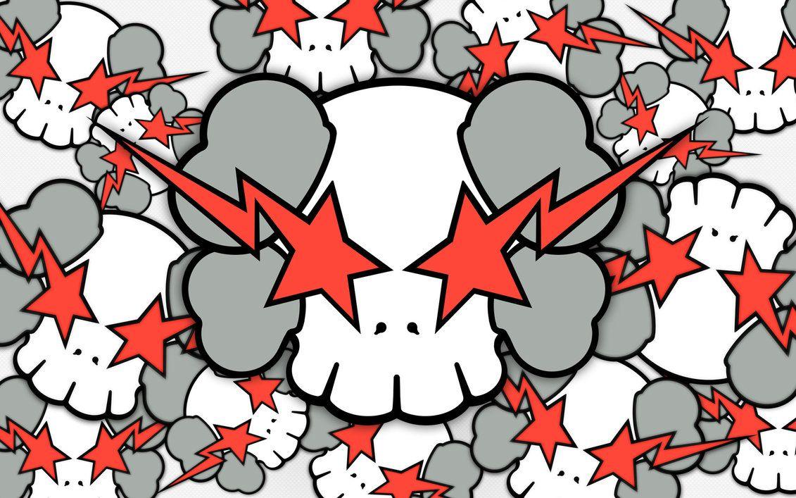 Kaws X Skulls By Keyzersoze In 2019 Kaws Wallpaper Apple