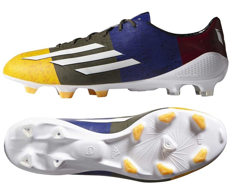 SALE $139.95 - Adidas F50 Adizero Messi (Synthetic) TRX FG Soccer Cleats  (Solar Gold/White/Earth Green) | FREE SHIPPING | M21777 | | Adidas Messi  F50 ...