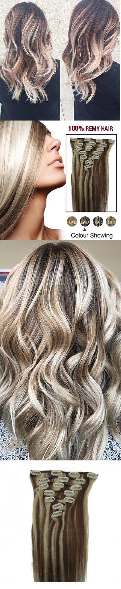 Myfashionhair Clip In Hair Extensions Real Human Hair Extensions 20