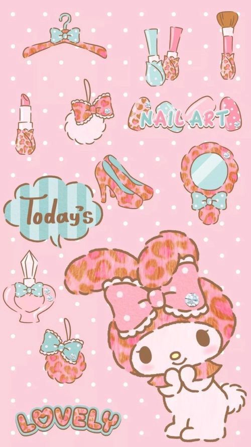 Sanrio Wallpaper Kawaii Hello Kitty My Melody Iphone Wallpapers Japanese Characters Backdrops