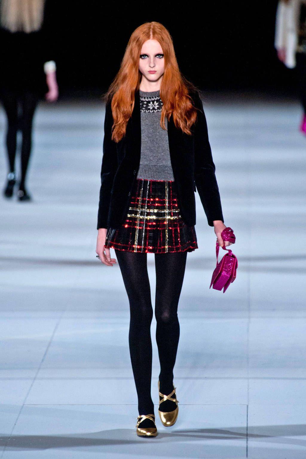 Saint Laurent - Paris Fashion Week Fall 2014 Runway Looks - Best Paris Runway Fashion - Harper's BAZAAR
