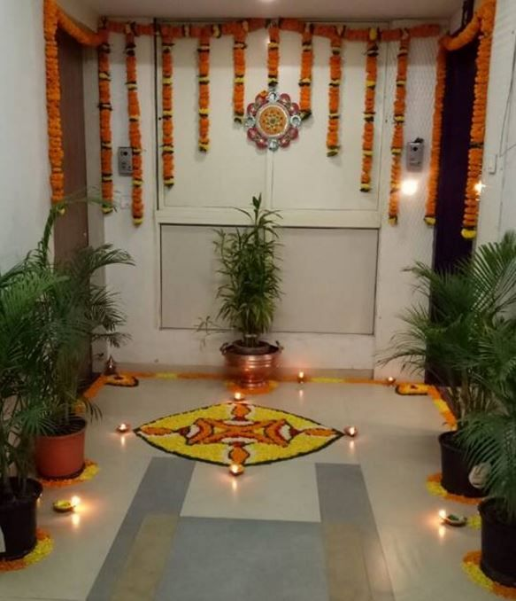 Pooja Room Decoration Pooja Room Pooja Room Designs Indian Pooja Room Pooja Room Decoration Ideas Diwali Decorations Diwali Decorations At Home Flower Decorations