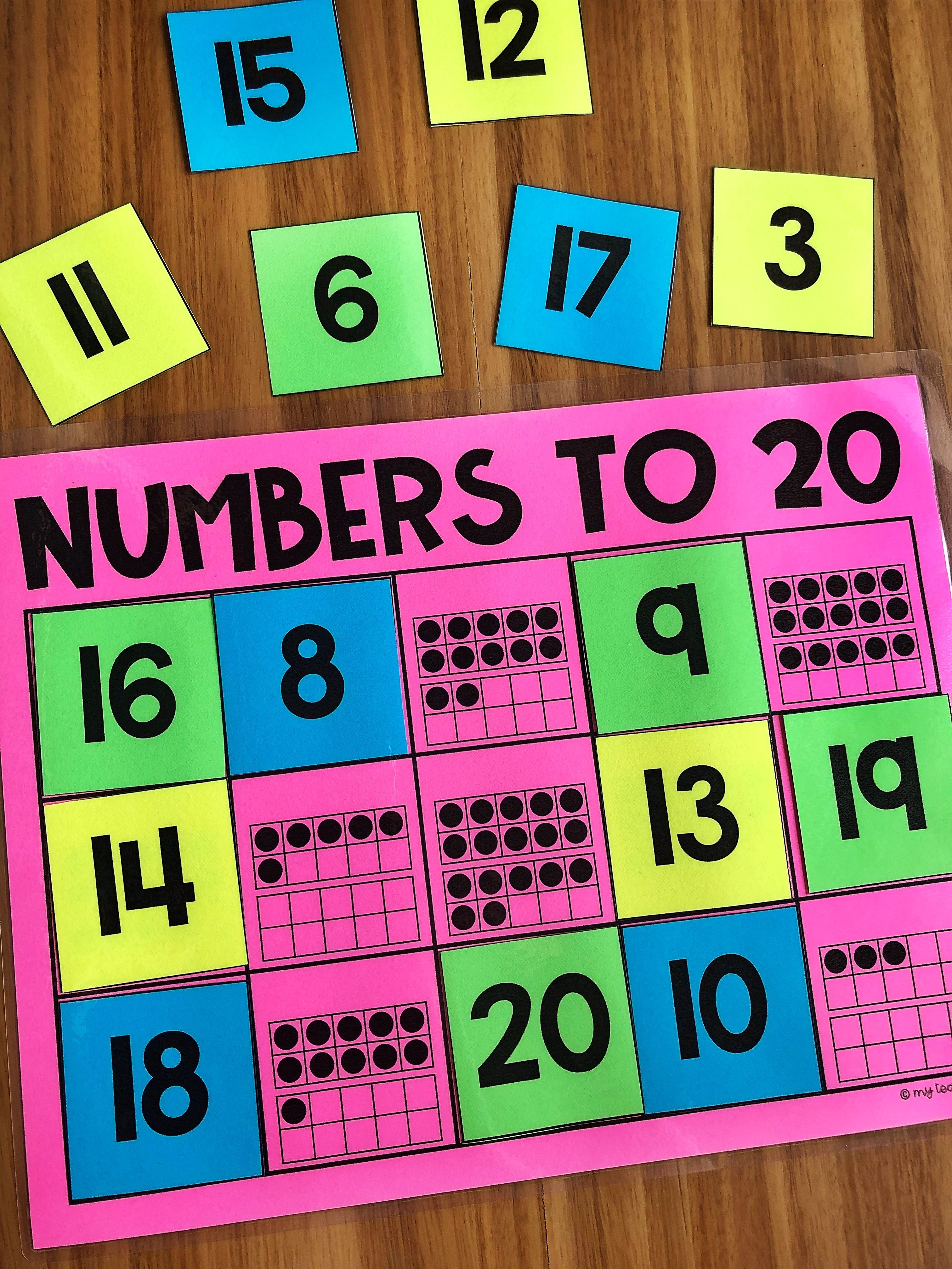 Numbers To 20 Counting Math Station For Kindergarten Your