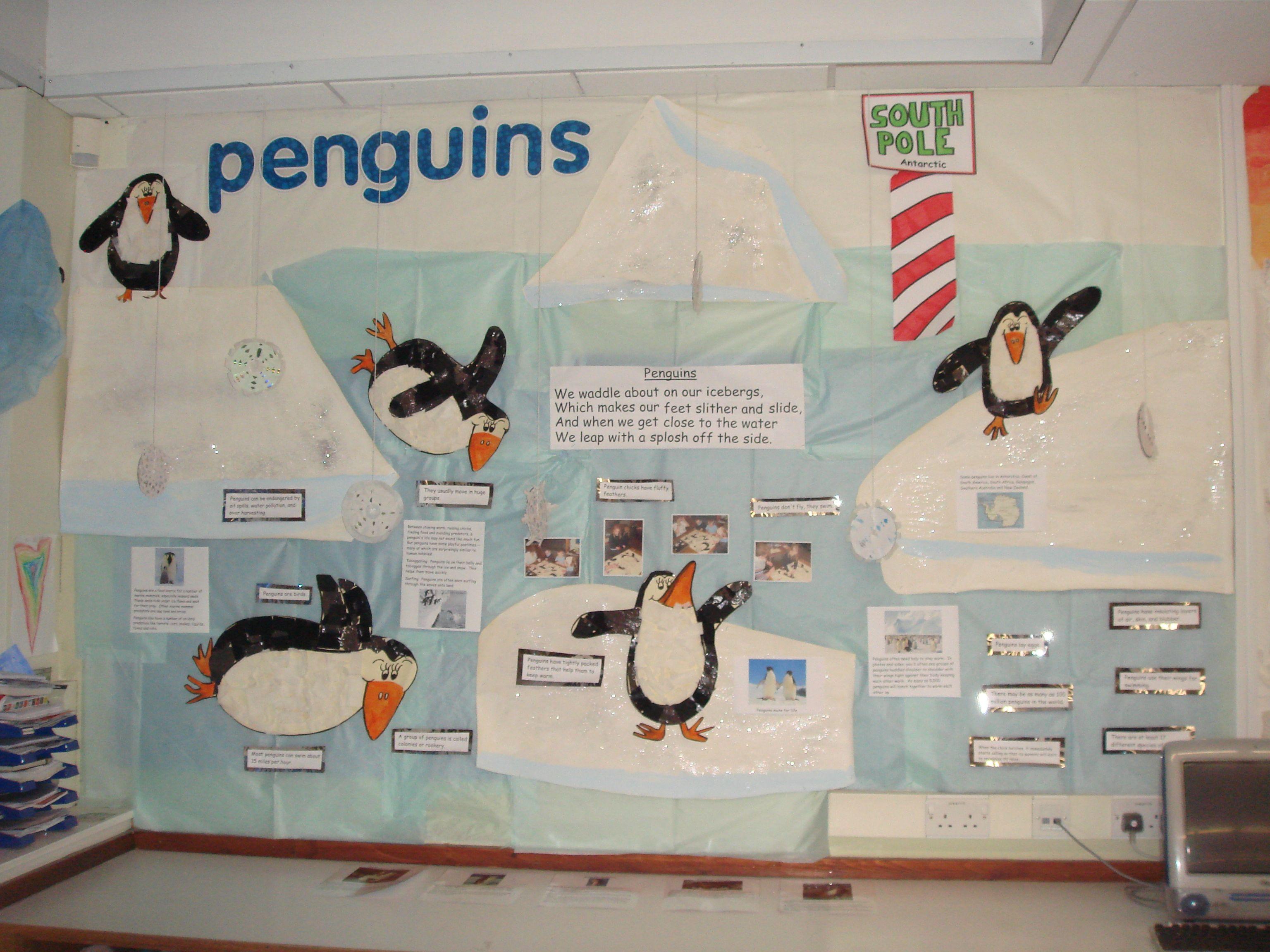 Penguin wall Penguin wall, Penguins, Eyfs