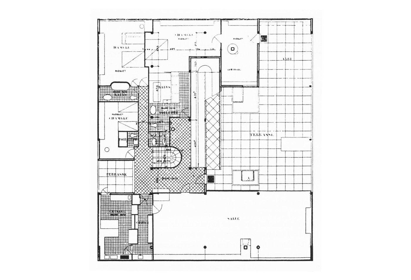 Villa Savoye Le Corbusier Floor Plan Second floor. Villa Sa...